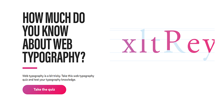Web Typography Quiz  - weekly news for designers jan 28 08 - Weekly News for Designers № 421