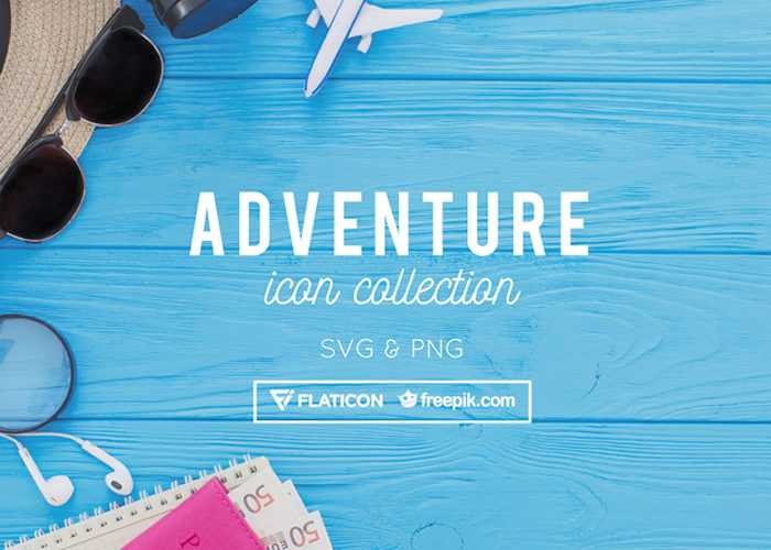 Free Adventure Icon Collection (48 Icons, PNG & SVG)