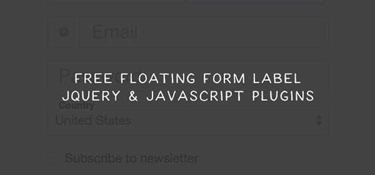 9 Floating Form Label jQuery & JavaScript Plugins