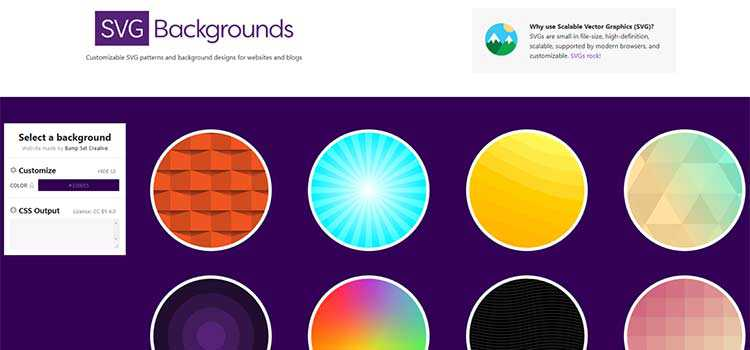 SVG Backgrounds