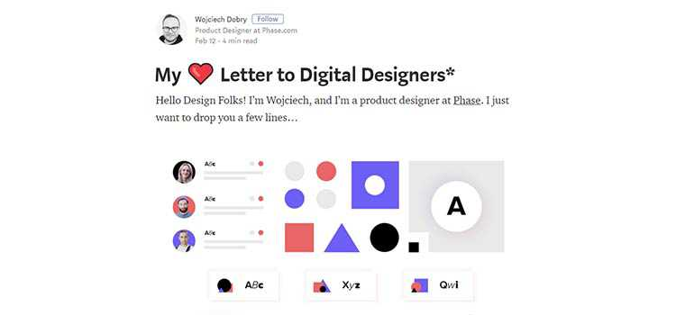 My ❤ Letter to Digital Designers*