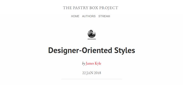 Designer-Oriented Styles