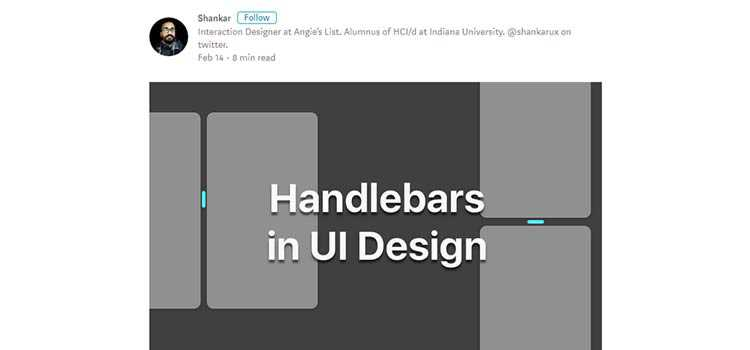 Handlebars in UI Design