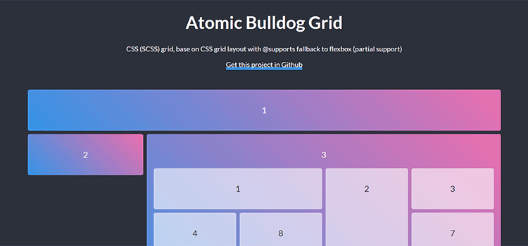 CSS Resources Free Atomic Bulldog Grid
