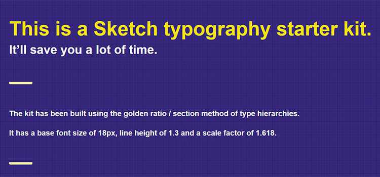 Sketch Typography Starter Kit
