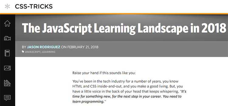 The JavaScript Learning Landscape in 2018