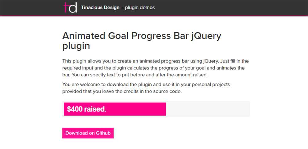 jQuery Goal Progress plugin