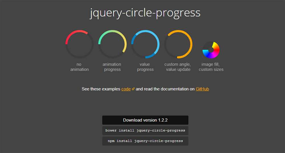 jQuery Circle Progress plugin