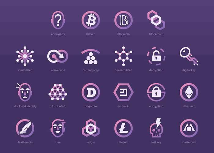 The Free Cryptocurrency Icon Set (50 Icons, SVG, AI & PNG)