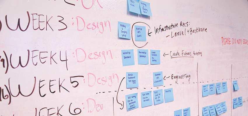 A web designer's complicated schedule.