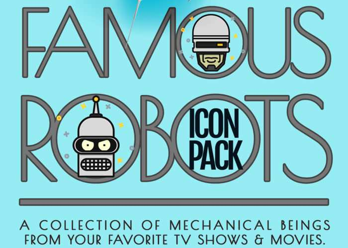 The Famous Robots Free Icon Set in AI, SVG & PNG Formats