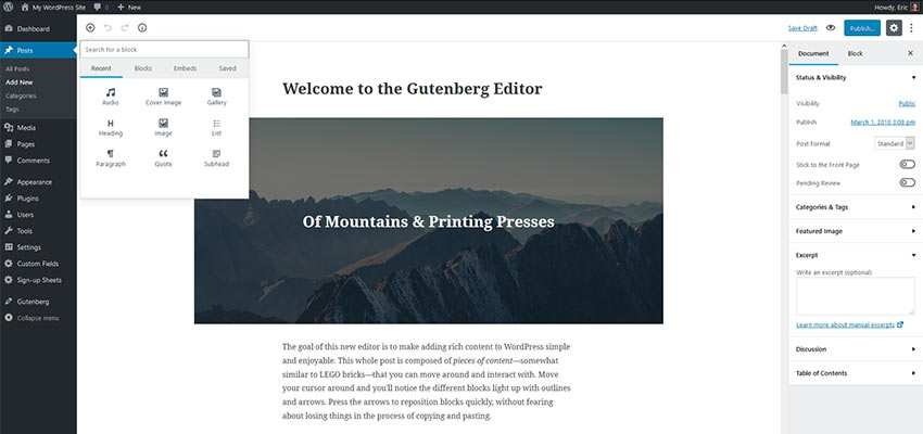 Train Clients in the Ways of Gutenberg