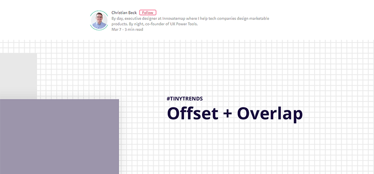 Design Trend: Offset + Overlapping Content Blocks