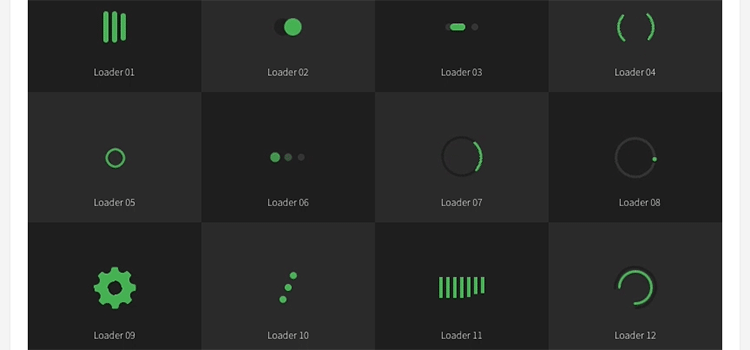 16 Free Pure HTML5 and CSS3 SVG Loaders