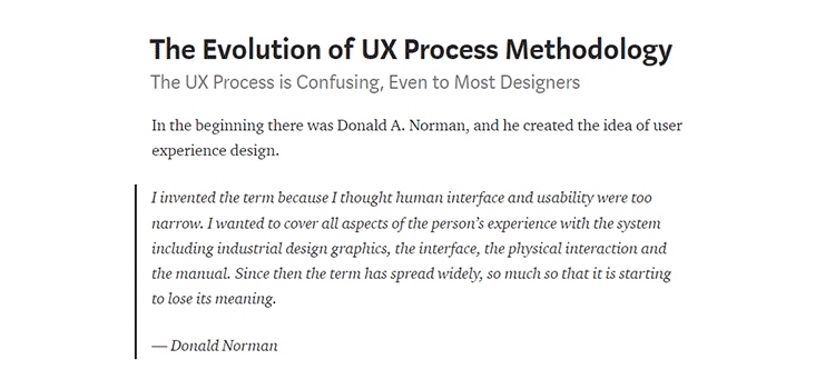The Evolution of UX Process Methodology