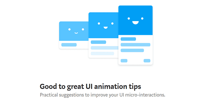 Good to great UI animation tips  - weekly news for designers march 11 08 - Weekly News for Designers № 427