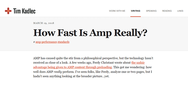 How Fast Is Amp Really?