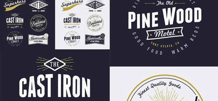 15 Free Vintage Logo & Badge Template Collections