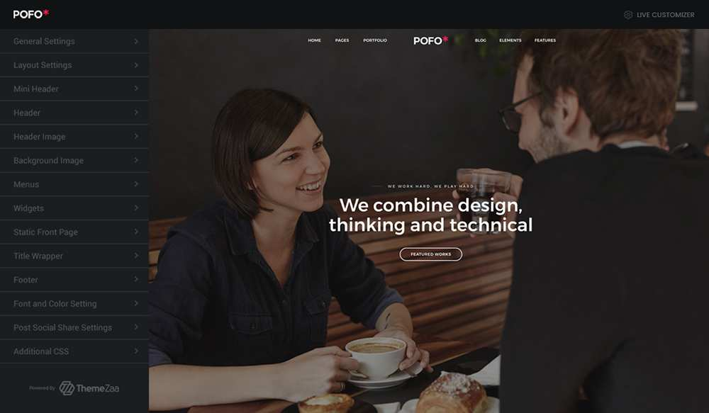 POFO is the WordPress Theme for Building Beautiful, Hand-Crafted Websites Sponsored