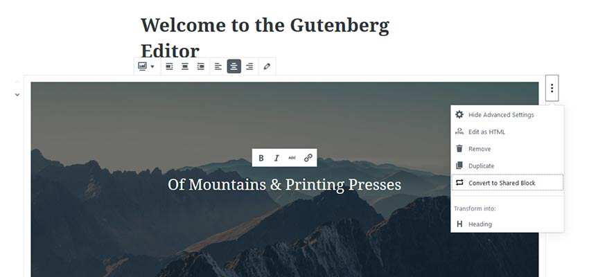 Gutenberg Shared Blocks
