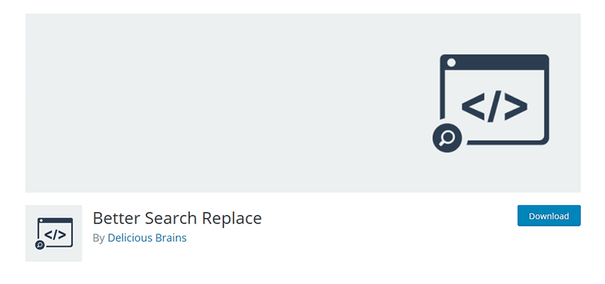 Better Search Replace