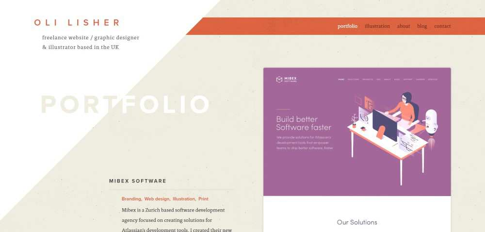 Inspiration Web Graphic Design Portfolio Oli Lisher