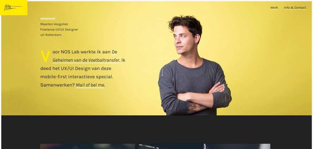 Inspiration Web Graphic Design Portfolio Maarten Hoogvliet