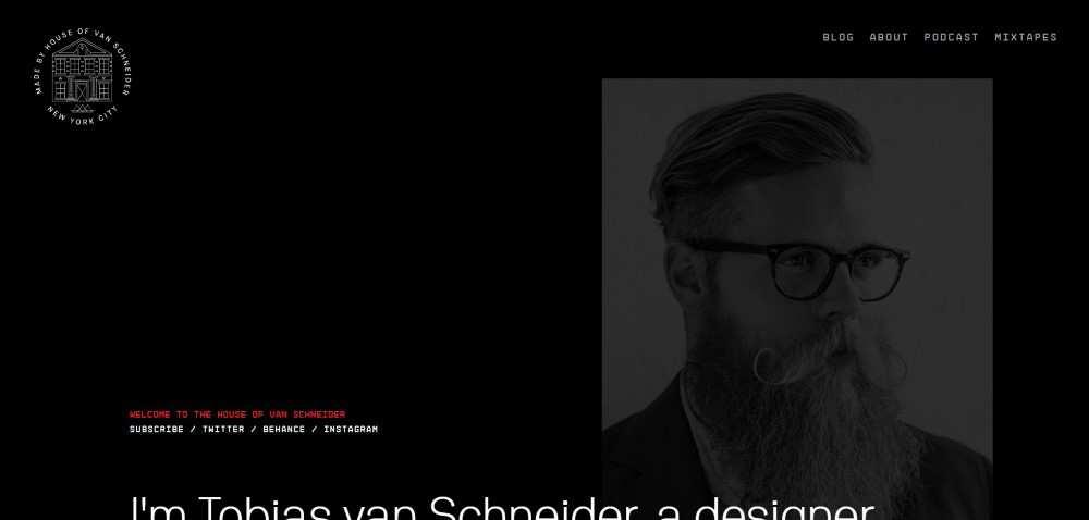 Inspiration Web Graphic Design Portfolio Tobias van Schneider