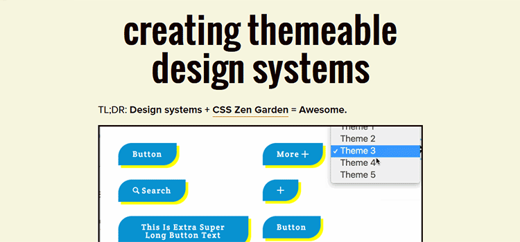 Creating Themeable Design Systems