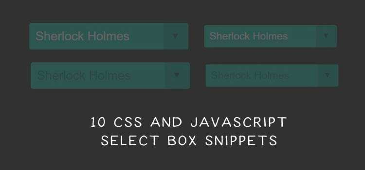 10 Free CSS & JavaScript Select Box Snippets