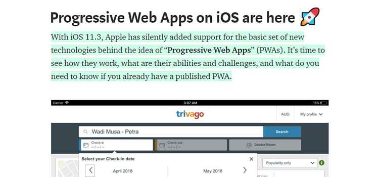 Progressive Web Apps on iOS are here