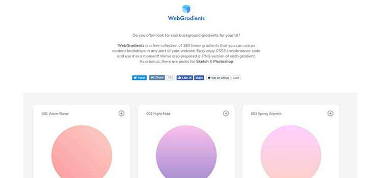 10 CSS Gradient Libraries & Webapps for UI Designers
