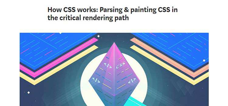 How CSS works: Parsing & painting CSS in the critical rendering path