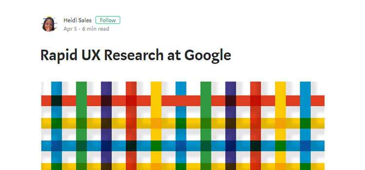 Rapid UX Research at Google