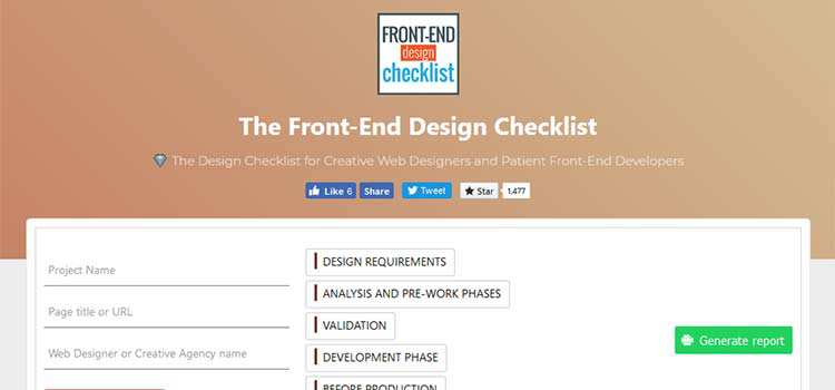 CSS Resources Free Front-End Design Checklist