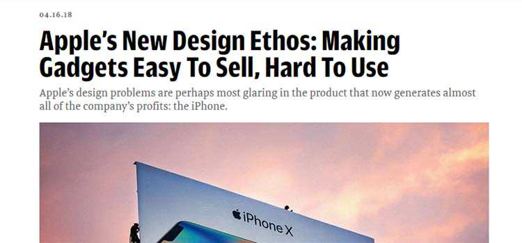 Apple's New Design Ethos: Making Gadgets Easy To Sell, Hard To Use
