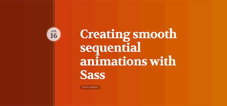 Creating smooth sequential animations with Sass