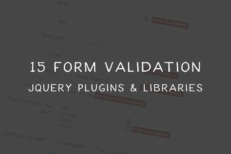 15 Free Form Validation jQuery Plugins and Libraries
