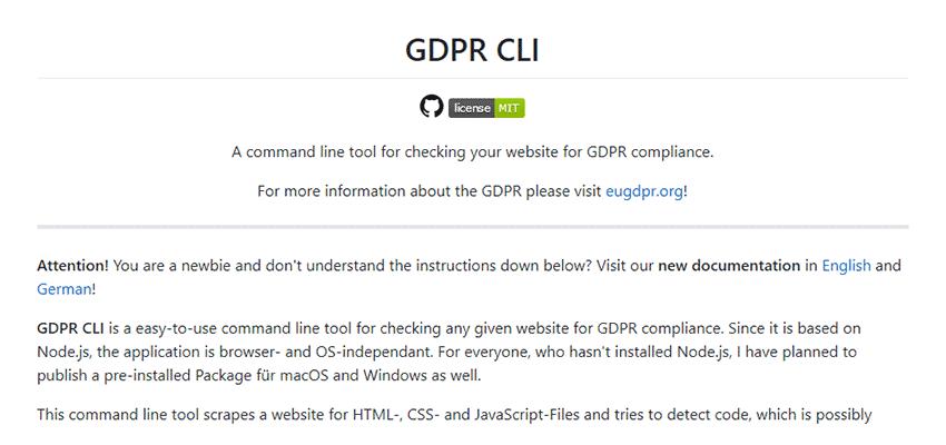 GDPR CLI