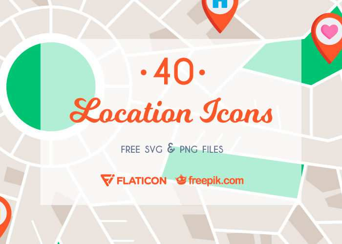 Free Map & Location Icon Set (40 Icons, SVG & PNG)