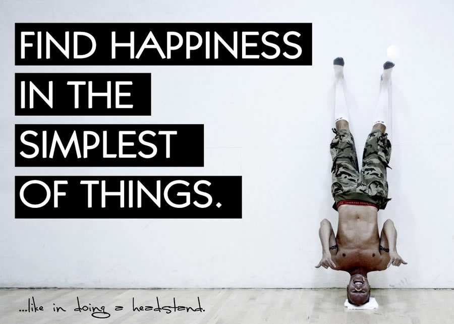 find happiness in the simplest things