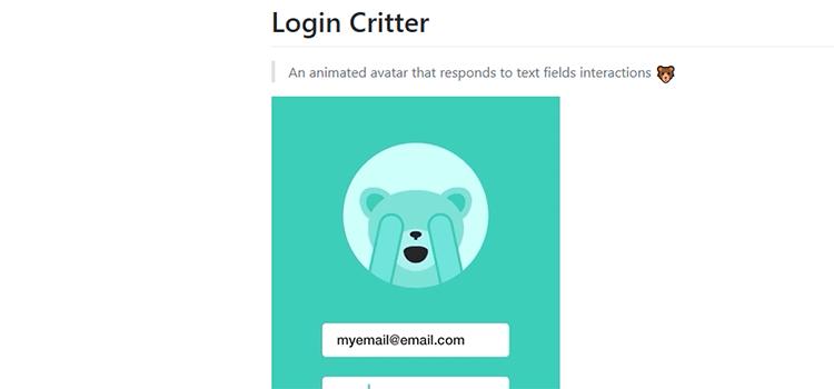 Login Critter
