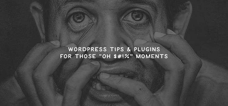 "WordPress Tips & Plugins for Those ""Oh $#!%"" Moments"