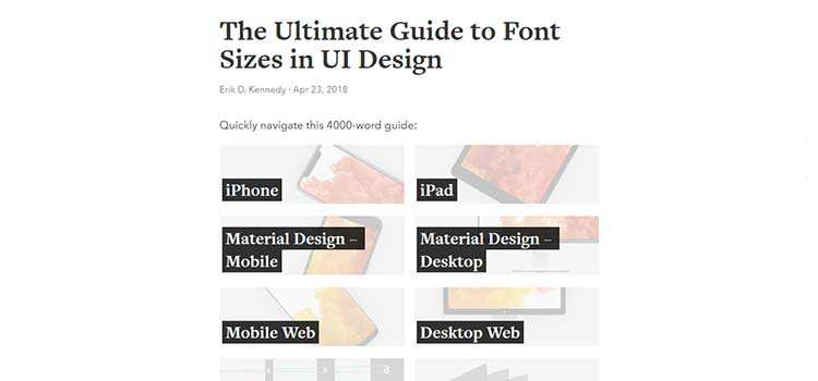 The Ultimate Guide to Font Sizes in UI Design