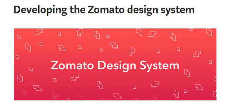 Developing the Zomato design system