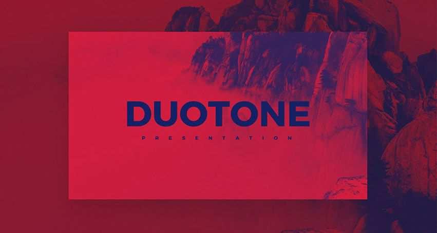 Duotone free keynote templates creative designer