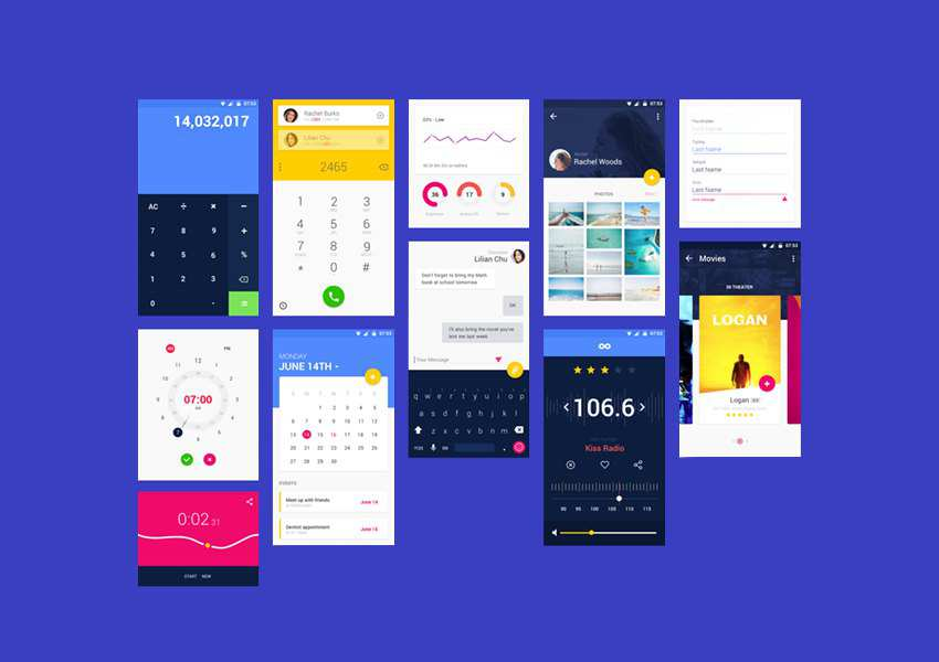Material UI Kit for Adobe XD