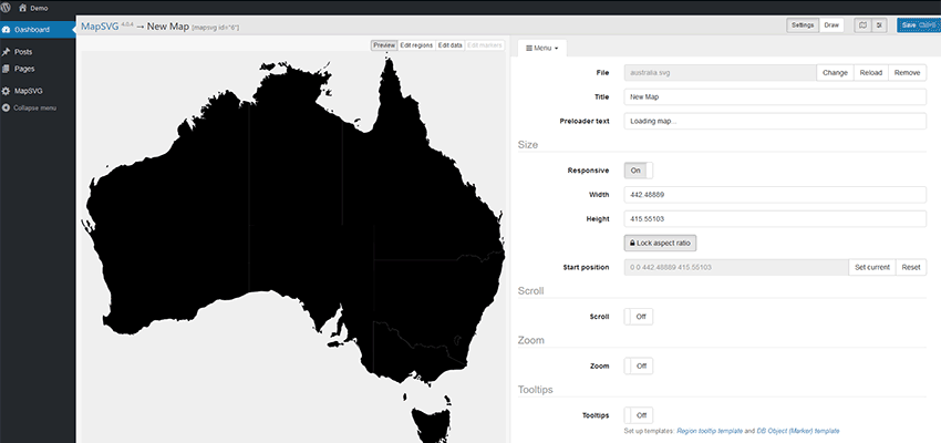 A new map of Australia, ready to customize