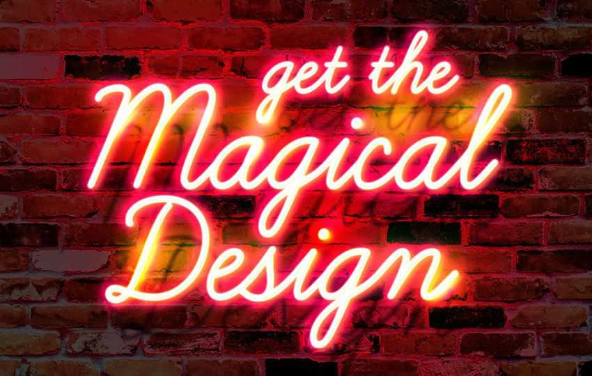 Free Photoshop Layer Styles PSD Wall Neon Glow Text Effect