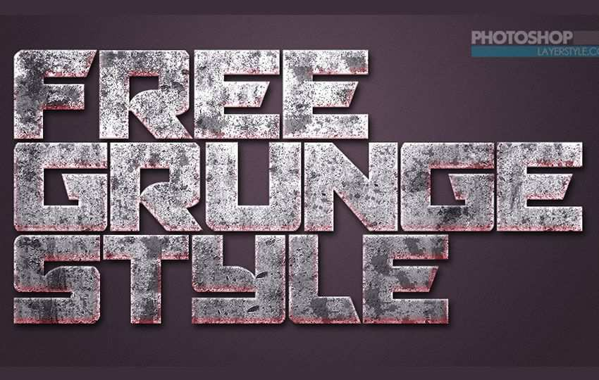 Free Grunge Photoshop Layer Styles PSD